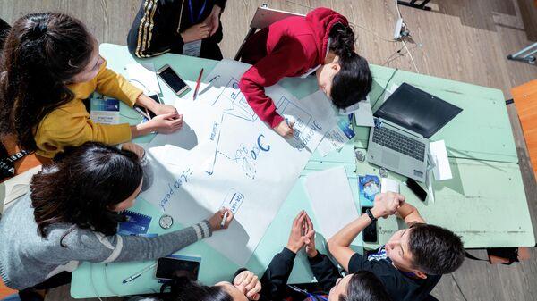 Киргизские школьники на интенсиве ТГУ