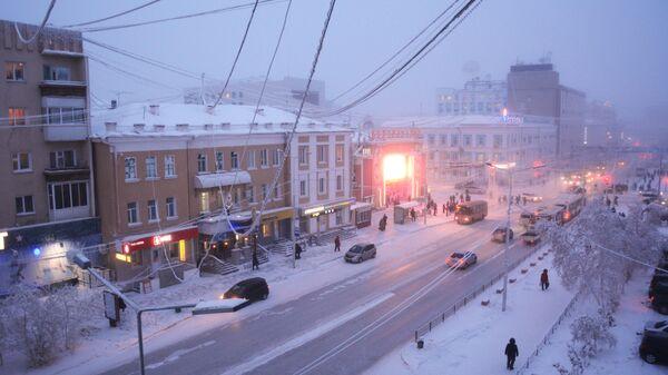 Проспект Ленина в городе Якутске