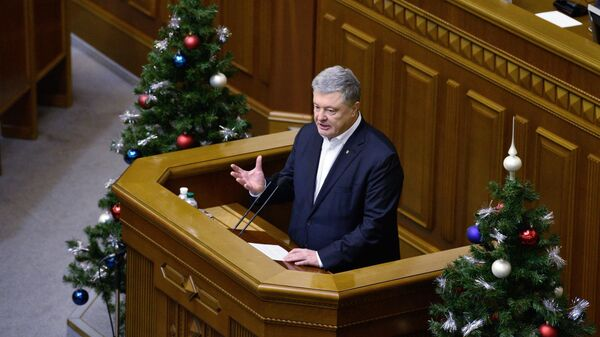 Бывший президент Украины, лидер партии Европейская солидарность Петр Порошенко на заседании Верховной рады Украины в Киеве