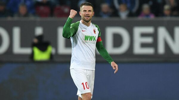 Игрок Аугсбурга Даниэль Байер