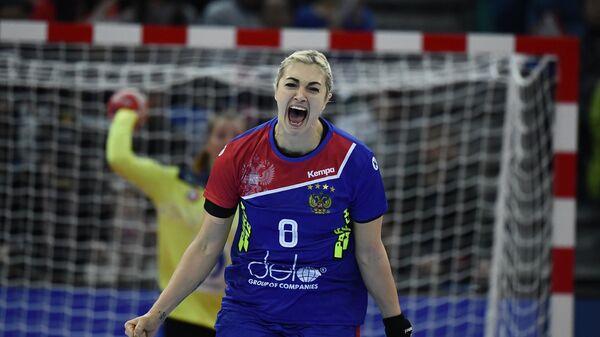 Гандболистка сборной России Анна Сень в матче за бронзу чемпионата мира
