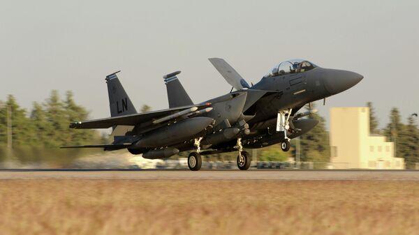 Истребитель ВВС США F-15E Strike Eagle