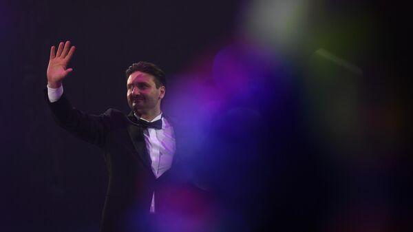 Генеральный директор Большого Московского государственного цирка Эдгард Запашный на всемирном фестивале циркового искусства Идол в Москве.