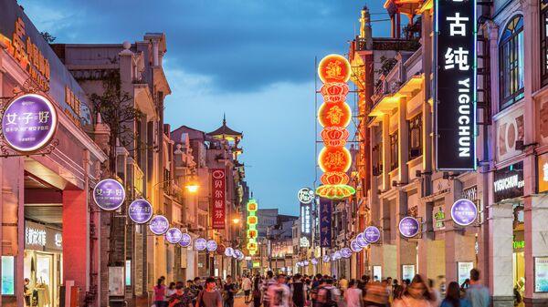 Пешеходная улица в Гуанчжоу