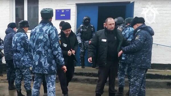 Задержание лиц, причастных к созданию террористического сообщества и участию в нем, в исправительной колонии №2 в Калмыкии