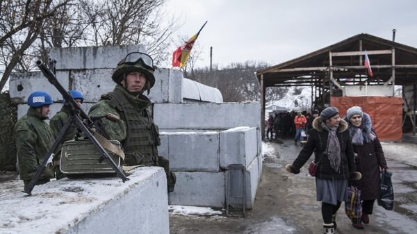 КПП Станица Луганская в ЛНР