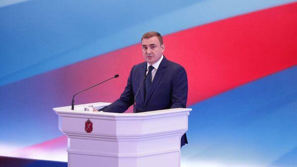 Губернатор Тульской области Алексей Дюмин во время ежегодного послания