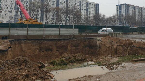 Обвал на стройплощадке Юнусабадской линии метро в Ташкенте