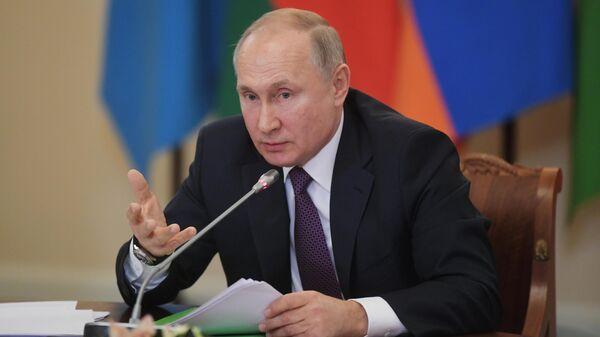Президент РФ Владимир Путин на неформальной встрече лидеров государств Содружества Независимых Государств