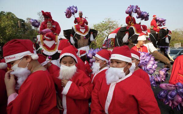 Празднование Рождества в Таиланде