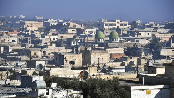 Город Джарджаназ в сирийской провинции Идлиб