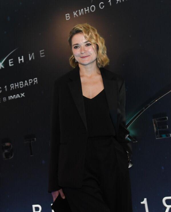 Актриса Надежда Михалкова на премьере фильма Вторжение