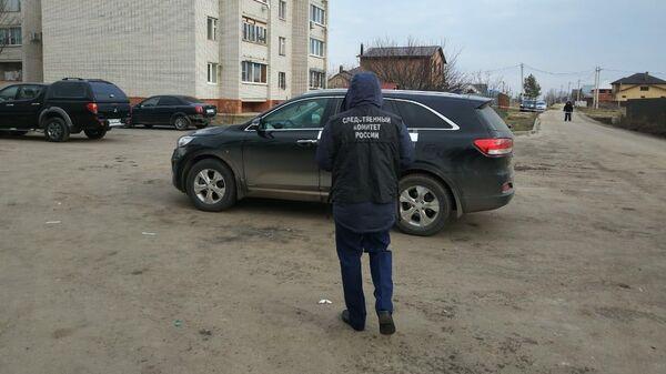 Сотрудник СК РФ на месте покушения на убийство главы Рамонского муниципального района Воронежской области. 26 декабря 2019