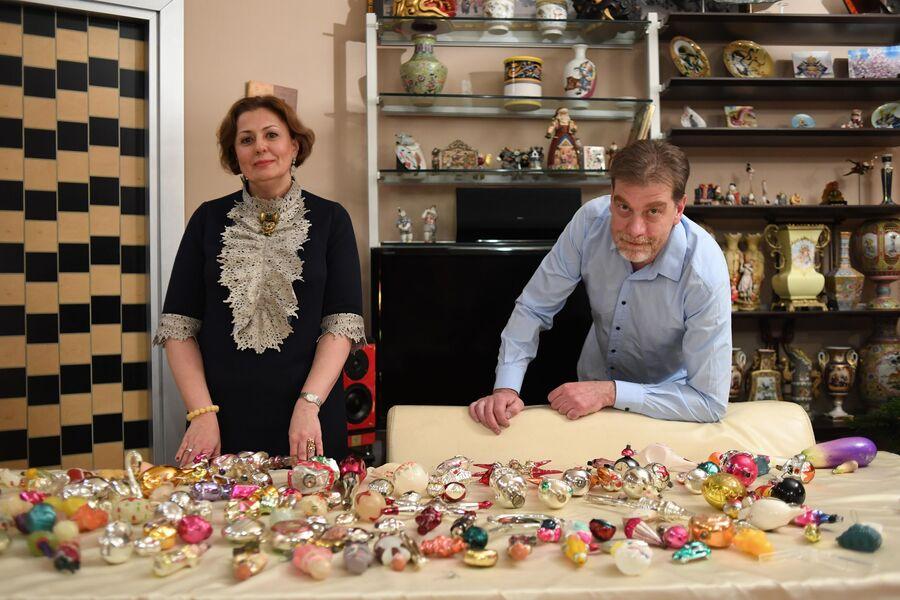 В коллекции Прибытковых три тысячи елочных украшений, выпущенных с 1930-х по 1970-е годы
