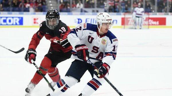 Матч МЧМ по хоккею Канада - США