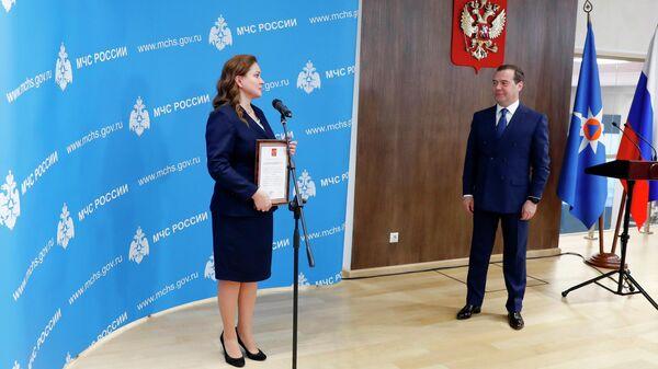 Председатель правительства РФ Дмитрий Медведев на церемонии вручения государственных наград сотрудникам МЧС. 27 декабря 2019
