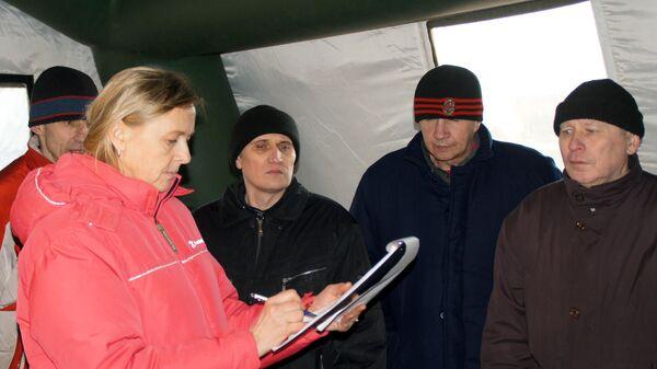 Ольга Кобцева во время обмена пленными между самопровозглашенными Донецкой и Луганской народными республиками и Киевом