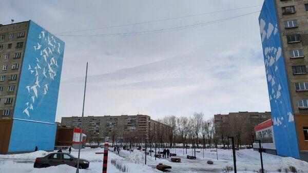 Парк на месте разрушенных подъездов дома в Магнитогорске
