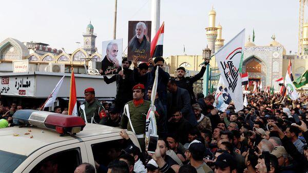 Похороны иранского генерала Касема Сулеймани в Багдаде, Ирак