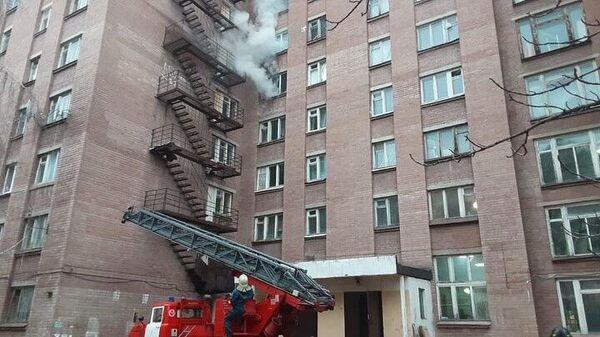 Пожар в общежитии Коминтерновском районе Воронежа. 4 января 2019