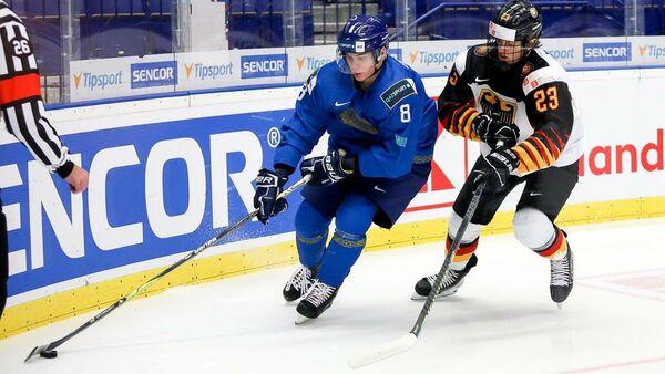 Матч МЧМ по хоккею между сборными Казахстана и Германии