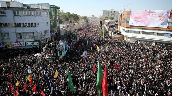Похороны Касема Сулеймани в городе Керман