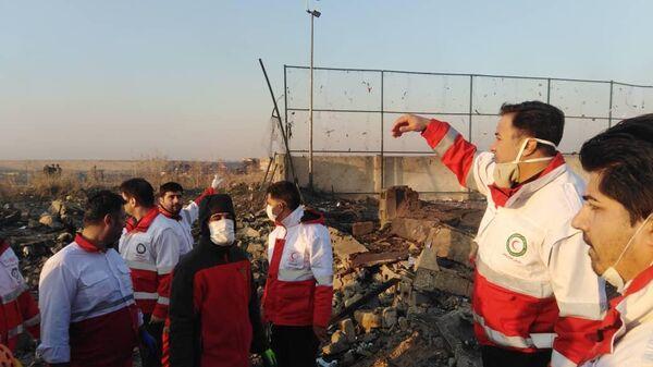 Ситуация на месте крушения украинского лайнера в Тегеране, 8 января 2020