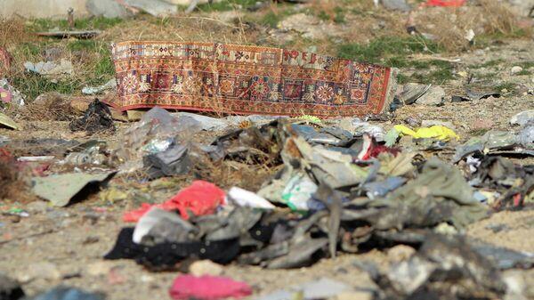 На месте крушения пассажирского лайнера Украины Boeing 737-800 неподалеку от тегеранского международного аэропорта имени Имама Хомейни