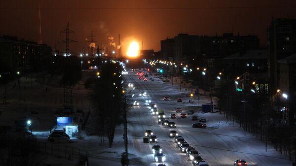 Пожар на территории нефтеперерабатывающего завода в Ухте. 9 января 2020