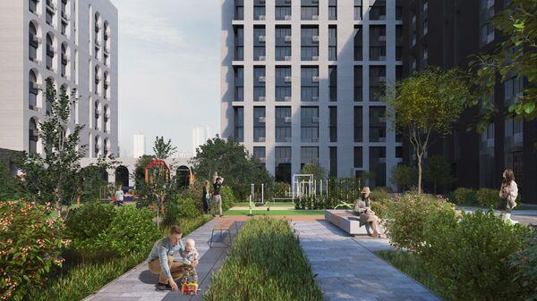 Проект дома по программе реновации на Бауманской улице в центре Москвы