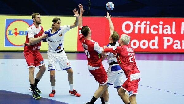 Матч ЧЕ-2020 по гандболу Исландия - Россия
