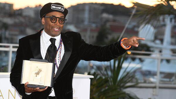 Режиссер Спайк Ли на фотосессии победителей в рамках церемонии закрытия 71-го Каннского международного кинофестиваля.