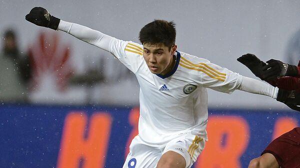 Игрок сборной Казахстана Бауыржан Исламхан