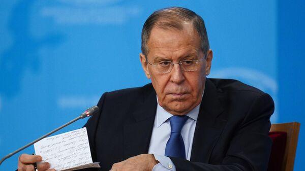 Исполняющий обязанности министра иностранных дел РФ Сергей Лавров