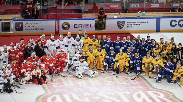 Участники мастер-шоу в рамках звездного уик-энда КХЛ
