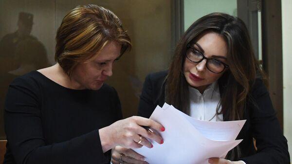 Актриса Наталья Бочкарева в Преображенском суде Москвы