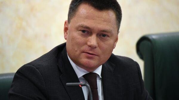 Заместитель председателя Следственного комитета РФ Игорь Краснов во время рассмотрения его кандидатуры на должность генерального прокурора РФ в Совете Федерации