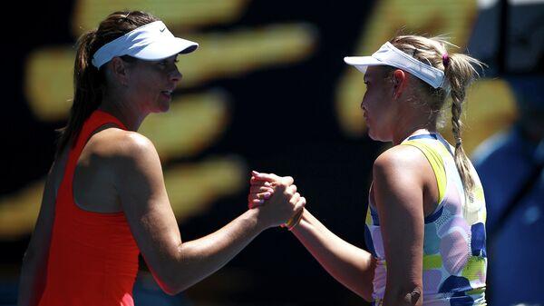 Российская теннисистка Мария Шарапова и хорватка Донна Векич
