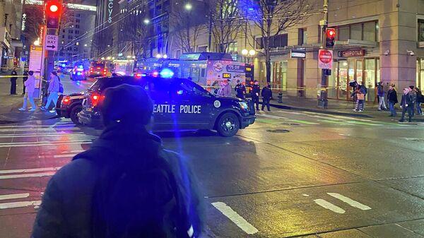 Полиция на месте стрельбы в Сиэтле. 22 января 2020