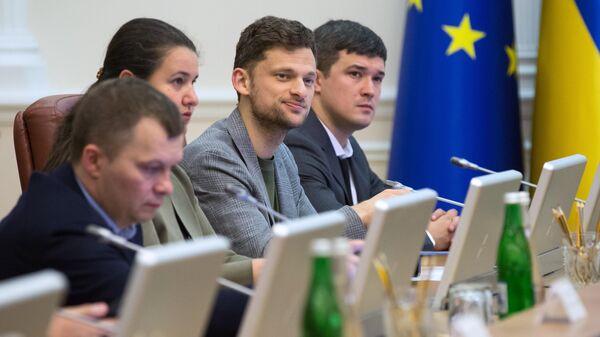 Министр Дмитрий Дубилет на заседании кабинета министров Украины в Киеве
