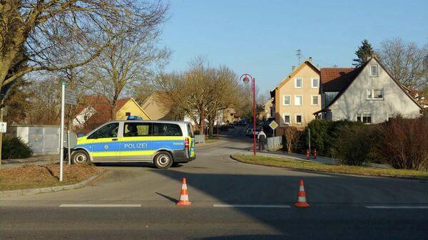 Полицейский автомобиль в Рот-ам-Зе на юго-западе Германии. 24 января 2020