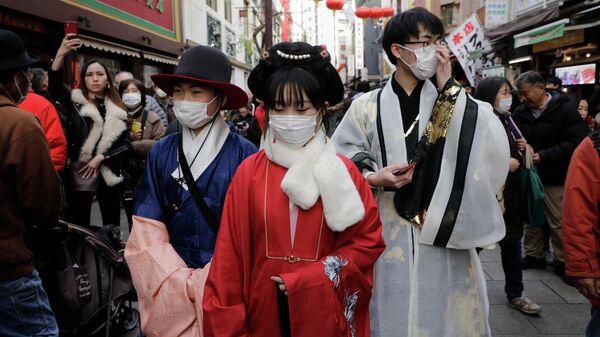 Празднование Нового года по лунному календарю в Йокогаме, Япония