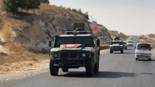 Военная полиция РФ на северо-востоке провинции Алеппо в Сирии