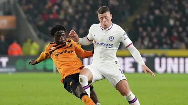 Soccer Football - FA Cup Fourth Round - Hull City v Chelsea - KCOM Stadium, Hull, Britain - January 25, 2020  Hull City's Leonardo Da Silva Lopes in action with Chelsea's Ross Barkley   REUTERS/Jon Super