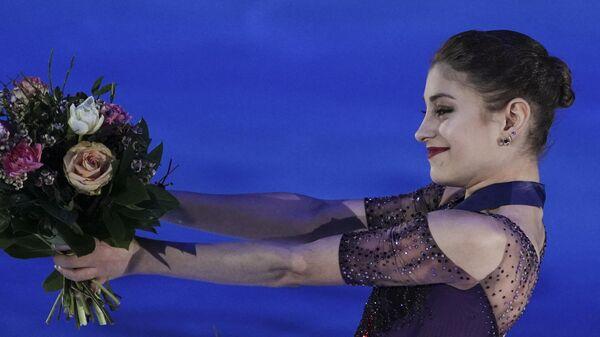 Алена Косторная во время церемонии награждения