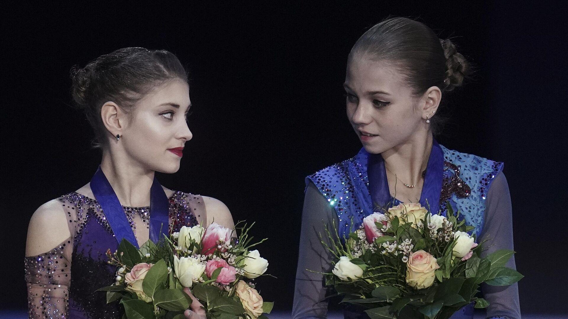 Алена Косторная (слева) и Александра Трусова - РИА Новости, 1920, 13.09.2020