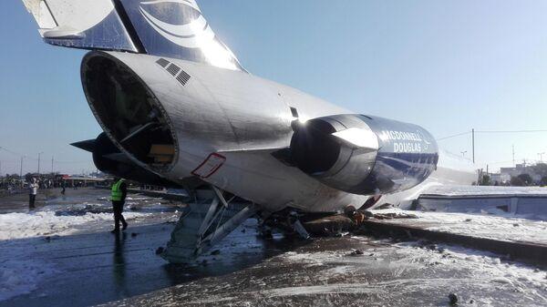 Самолет иранской авиакомпании Caspian Airlines выкатился за пределы взлетно-посадочной полосы при посадке в Махшахре. 27 января 2020