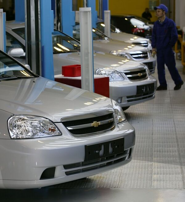 Запуск производства Chevrolet Lacettii автоконцерном General Motors в Калининграде. Архив