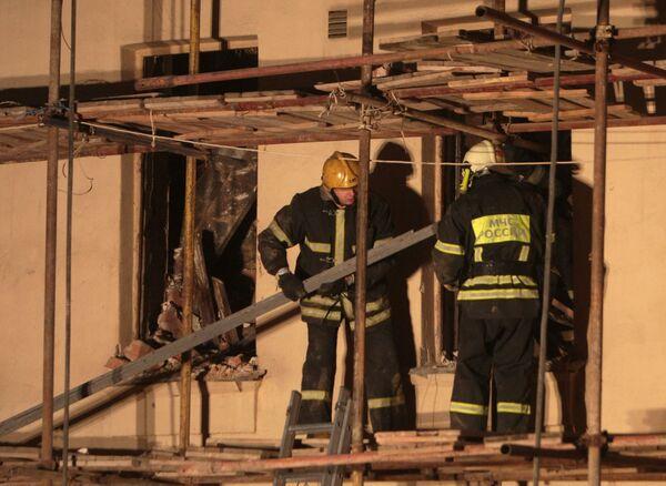 Обрушение дома на Старом Арбате в Москве