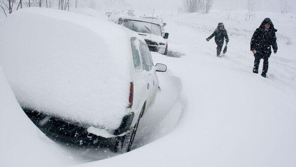 Около 20 см снега выпало в Москве с воскресенья